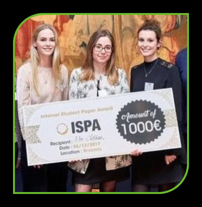 Elise Melchior et Pauline Limbrée - Internet Student Paper Award