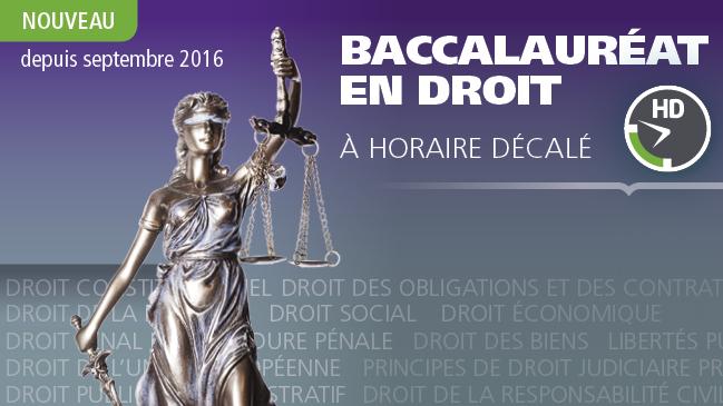 Baccalauréat en droit à horaire décalé