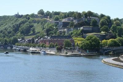 Le confluent et la citadelle de Namur