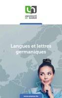 Langues et lettres modernes orientation germanique