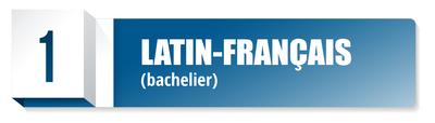 Bachelier en langues et lettres anciennes et modernes (latin-français)