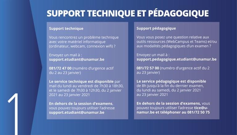 Support technique et pédagogique