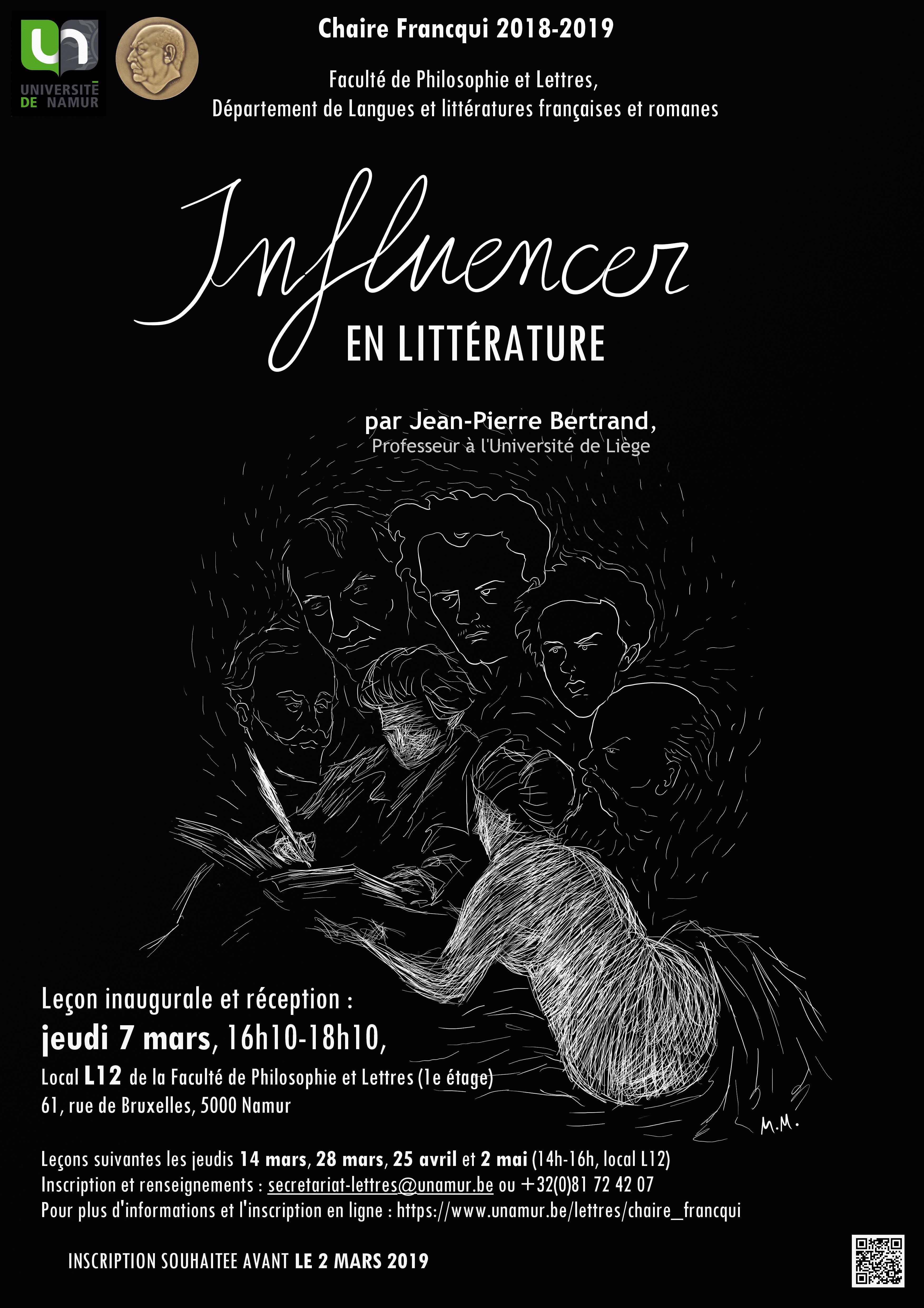 Affiche Chaire Francqui 2018-2019