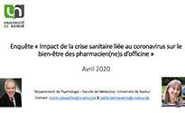 Résultats enquête pharmaciens covid 19