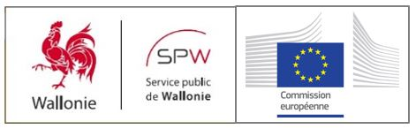 Logo Région Wallonne SPW Coq European Commission