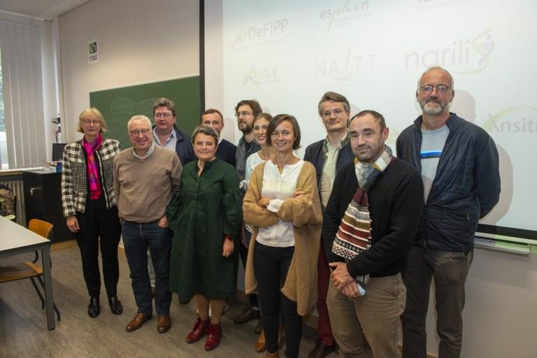 Les 11 représentants des Instituts et VRR