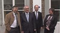 Yves Poullet, Recteur (UNamur) - Dr. Eckart Cuntz, Ambassadeur d'Allemagne en Belgique - Robert Sporken, 1er Vice-recteur (UNamur) - Annick Castiaux, Conseil des relations internationales (UNamur)